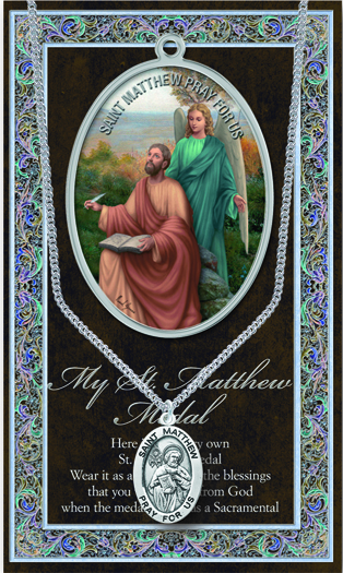 St Matthew Prayer Card And Pewter Medal St Jude Shop
