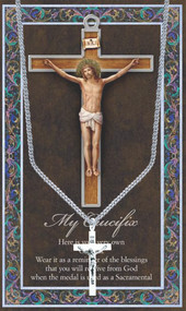 The Crucifix, Prayer Card and Pewter Medal