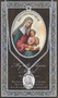 """Patron of Mothers, Women Unable to have Children, Horseriders. 1.125"""" Genuine Pewter Medal with Stainless Steel Chain. Gold Embossed  Prayer Card included with short biography of the saint included. (3.25""""x 5.5"""")"""