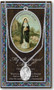 """Patron Saint of Midwives,Newborn Babies. A 1.125"""" Genuine Pewter Medal with Stainless Steel Chain. Gold Embossed  Prayer Card included with short biography of the saint included. (3.25""""x 5.5"""")"""
