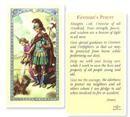 Firefighter's Prayer, Saint Florian, Laminated Holy Card