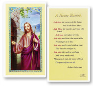 House Blessing, Christ Knocking, Laminated Holy Card