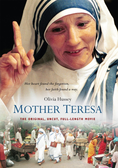 In a powerful portrayal, Golden Globe winner Olivia Hussey illuminates the life story of Mother Teresa, the selfless missionary who brought hope, love and salvation to the poorest of the poor. A shrewd diplomat and an indomitable force, Mother Teresa is unwilling to accept what others deem impossible, fearlessly fighting for the unloved and the forgotten. Her good works transcend hardships and ultimately earn her international acclaim, including the Nobel Peace prize. The small miracles and humble triumphs of Mother Teresa will inspire you in this poignant tale of a modern-day saint. Canonization Date: September 4, 2016 Feast Day: September 5