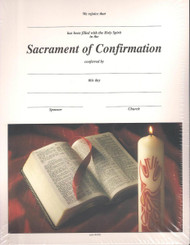 Sacrament of Confirmation Certificates and Envelopes. Package includes 25 certificates and envelopes.