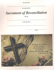 Sacrament of Reconciliation Certificates and Envelopes. Package contains 25 Certificates and Envelopes