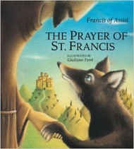 Although the prayer of St. Francis is widely known and loved by people of all ages, here is a new slant on it a children's book that brings the prayer to life with tenderness, wonder, and joy. Accompanying each line of the prayer are sweet little animals paired with a wolf that can only be described at gentle and loving. Here is a wolf that is protector and helper to his little forest friends, bringing them light to banish the darkness, joy to counter their sadness, even contemplating the sunset with his arm around his friend the sheep. A short history of St. Francis and of the prayer is included to help readers put it in perspective.  Children will be drawn into the warm, whimsical, and charming illustrations that truly make the prayer come alive. And as they read it to and with children, adults will find themselves smiling at and contemplating this book that will remind them of the beauty and simplicity of this prayer.