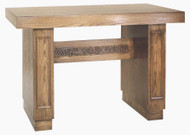 "Wood Altar comes in Two Sizes; 39"" height, 60"" width, 28"" depth or 39"" height, 72"" width, 28"" depth"