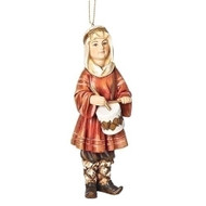"5"" Resin Drummer Boy Christmas hanging ornament. Dimensions: 5""H x 1.25""W x 1.75""D"