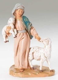 "Rhoda the Shepherdess Fontanini Polymer 5"" Scale Nativity Figure"