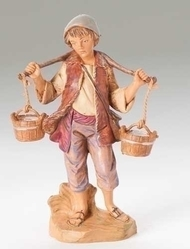 "Fontanini Polymer 5"" Scale Nativity Figures ~ Noah the Water Boy Figure"