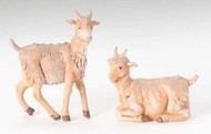 """Fontanini Polymer  5"""" Scale Nativity Figures ~ Seated and Standing Goats"""