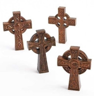 "4""H Resin/Stone Mix tabletop crosses.  Specific designs of crosses are available while supplies last. Measurements: 4""H x 0.86""W x 2.96""L. EACH CROSS SOLD SEPARATELY."