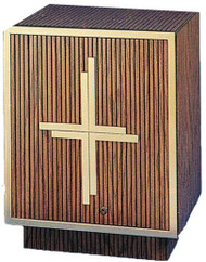 Oak Wood Tabernacle with Bronze Satin Trim