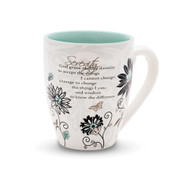 "From the Mark My Words Collection comes this 4.75"" ~ 17 ounce ceramic mug. Mug has the Serenity Prayer on front. ""God grant me the serenity to accept the things I cannot change, courage to change the things I can, and wisdom to know the difference."""