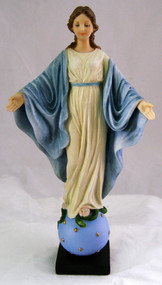 """SR-75217-C Our Lady Smiles-Veronese, hand-painted in full color, 9"""""""