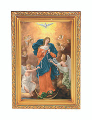 Our Lady, Untier of Knots Framed Artwork with Easel Back