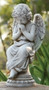 """Garden Angel Collection. Praying Angel Statue. Dimensions: 14.5""""H 6.5""""W x  4.13""""D. Resin/Stone Mix"""