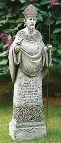 26.5 inch St Patrick Garden Statue