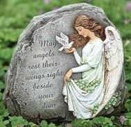Celtic Angel Garden Stone