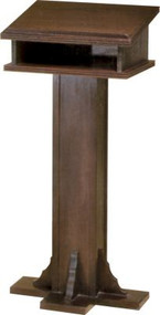 "A.  Small Lectern Dimensions: 43"" height, 16"" width, 15"" depth  B.  Large Lectern dimensions: 45"" height, 20"" width, 19"" depth"