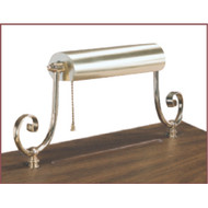 "Brass lamp available for fitting onto selected lecterns and pulpits. Dimensions: 6"" height, 16"" width"