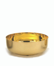 "6 1/8""  Open ciboria holds 350 host. (based on 1 3/8: host) Ht. 2 1/4"". Available in 24kt gold plate or Silver plate."