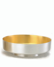 Communion Bowl with Foot Silver, Gold- Line, 7901S