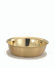 "5 7/8""H x 1 3/4""bowl in 24kt gold plate.  Holds 150 host based on 1 3/8"" host"