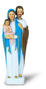 "6"" Holy Family hand painted statue"