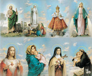 "The Bonella Line of prayer cards are imported from Milan, Italy. A personalized prayer card is the perfect memento of your special occasion. Add your favorite prayer and message, and you will have a unique and treasured keepsake. Full color pictures of St. Jude, Our Lady of Fatima, the Infant of Prague, Our Lady of the Miraculous Medal, the Sacred Heart of Jesus,  Madonna of the Streets, St. Therese, St. Anthony. Micro-Perforated. Sheet size is 8 1/2"" x 11"".  Card size is 2 1/2"" x 4 1/4"" each.  Cards can be laminated. Must order in multiples of 8. Price includes personalization."