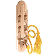 """3"""" W x 14"""" H. Metals available are bronze or brass. Finishes available are high polish or satin. Supplied with bell cord. Cord is available separately as an accessory."""