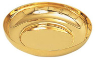 "Gold plate or Stainless Steel Bowl Paten. 6-1/4"" Diameter, 1-1/4"" Deep"