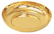 "Gold plate or Stainless Steel Bowl Paten. 6-1/4"" Diameter, 1-1/4"" Deep"