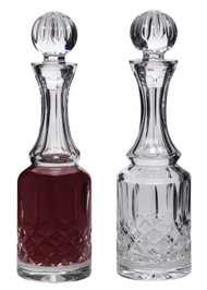 Lead Crystal Cruets- 5 oz. capacity bottles, Height: 8 3/8""