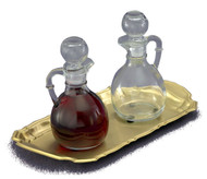 The Set of Bottles and Tray