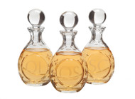 Chrismal Set of Lead Crystal Bottles - 7 ounce capacity, Height: 6 1/4""