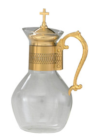 Glass Flagon in Gold or Silver- 52 ounce capacity, Height: 11""