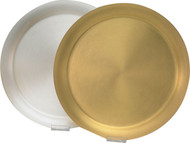 "Gold Plate or Silver Plate Host Trays in Satin finish.  Host Trays have a diameter of 11 1/8"". The trays holds 9"" hosts."