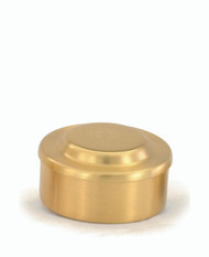 "24 KT Gold Host Box - Height: 2"". Holds 80 Wafers. Diameter: 3 5/8"""