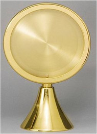 "Ostensoria for Chapel - 24 K gold plated. Height: 9"". Simplified Luna will accomodate a 5 3/4"" host."