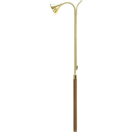 "Solid Brass or Nickel Finish with walnut handle.  Various sizes - 36"", 48"", 60"""