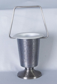 Holy Water Bucket with Silver Oxidized Finish
