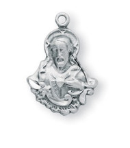 "11/16"" Sterling Silver Scapular Medal comes with a genuine rhodium 18"" Chain and a deluxe velour gift box. Our Lady of Mt. Carmel is on reverse side"