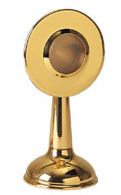 """Reliquary 133-Gold Plated, Secure compartment. 6"""" height, 1-3/4"""" diameter. 7/8"""" deep"""