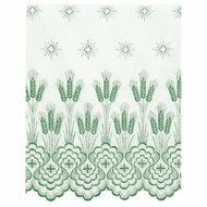 "Wheat Design 1860-Sheer Nylon (priced per yard) - Ample Embroidery 42"" Wide. Design Available In White, Gold, Purple, Green and Red.  Please Specify Color When Ordering."
