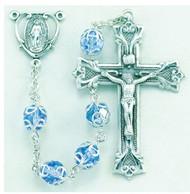 Light Sapphire Swarovski Crystal Sterling Rosary