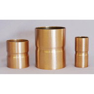Brass Candle Extenders in brass or bronze color, high polish or satin finish. 8 different sizes.
