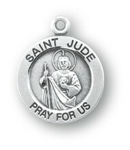 Sterling Silver Round Shaped St. Jude Medal