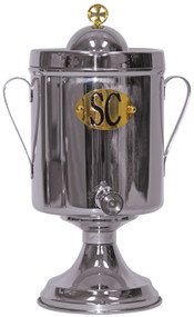 "Stainless Steel container, SC, OI, OS.  Choose letter A. for Small, 1 gallon size-15"" height, 6"" base. or choose letter B. Large, 2 gallon size-17"" Height, 7"" base"