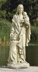 Jesus with Children Garden Statue 24""